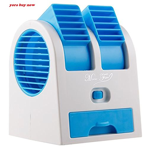 YORA Mini-Portable-USB-Air-Cooler-Portable-Desktop-Dual-Bladeless-Fan-Air-Pack