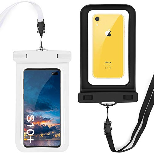 GeeRic wasserdichte Handyhülle 2 Stücke,Handytasche Wasserdicht,Staubdichte Schutzhülle für iPhone X/XR/XS/XS MAX/8/7/6/6s/6splus/Galaxy S10 Plus/S10/S9/S8/S7/Huawei P30/P30 Pro/P9 usw. bis 6,5 Zoll - Iphone Cover Handy Wasserdichte 6