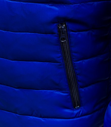 BOLF Herrenjacke Herren Übergangsjacke moderne Steppjacke mit Kapuze LIBLAND 3585 Mittelblau