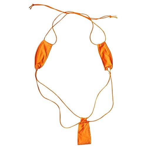 Creamlin Teeny Weeny Sling Shot Micro Mini Bikini Thong Einteiler Teddy (Orange)