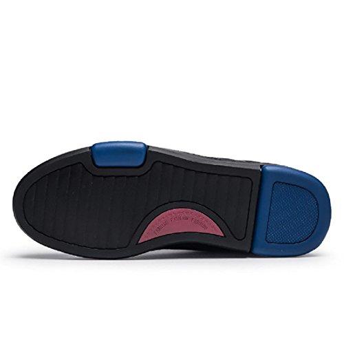 Le Nouveau Hiver Chaussures Pour Hommes Grande Taille Plus De Velours Garder Au Chaud Mode Loisir Augmenter Chaussures Simples Cuir VéRitable Chaussures brown printing
