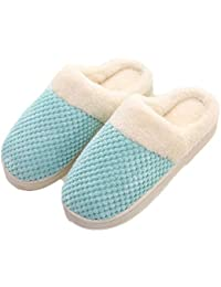 POINGS Inverno Pantofole Donna Uomo Peluche Ciabatte Scarpe da Casa Morbido  Antiscivolo Caldo Comode Pantofole per 17ad5fbd53a