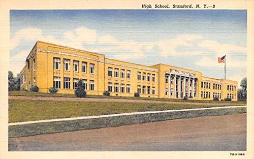 High School Stamford, New York Postcard