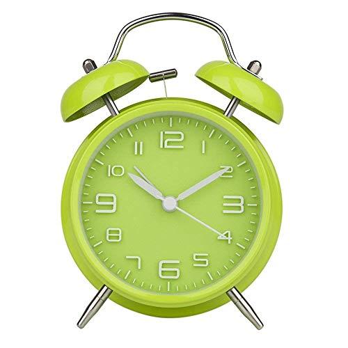 Kalaok Despertadores Electrónicos 3' Reloj Despertador de Doble Campana Retro Alarma Despertador Analógico de Cuarzo,002