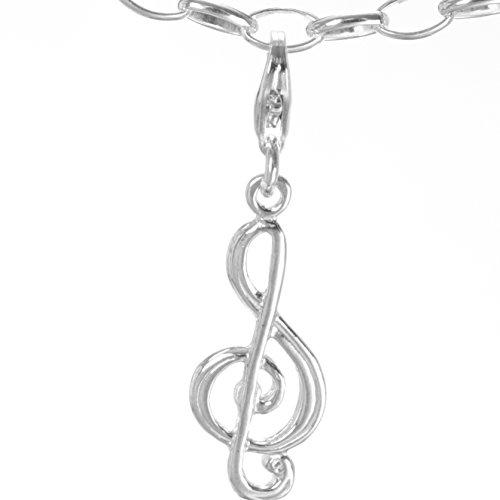 Sterling Silber Charm Anhänger Bettelarmband Musik Note für Armband & Halskette C#324 (Musik Note Bettelarmband)