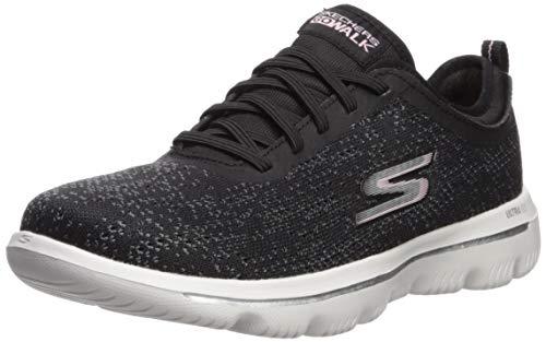 Skechers Damen Go Walk Evolution Ultra-mirab Sneaker, Schwarz (Black Light Pink Bklp), 38 EU