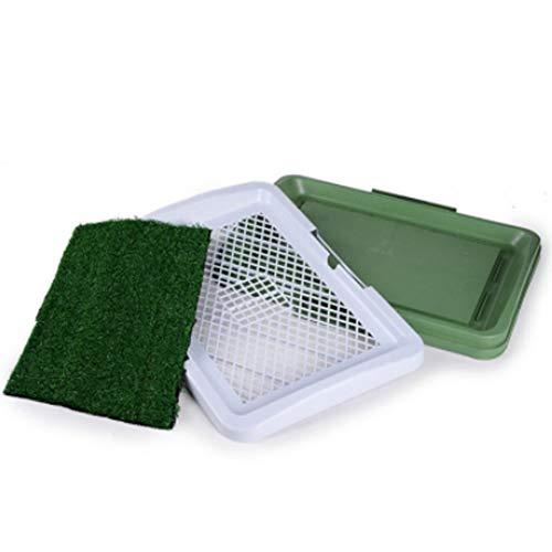 PDDJ Welpen-Trainings-Pad-Innentöpfchen-Trainer-Gras-Pee-Auflage mit künstlichem Gras für Haustiere (Welpe Gras Pad)