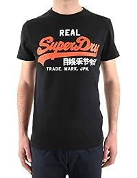 T-Shirt SuperDry Technical Vintage Logo Black