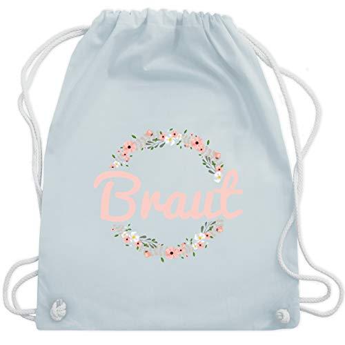 JGA Junggesellinnenabschied - Braut Blumenkranz rosa - Unisize - Pastell Blau - WM110 - Turnbeutel & Gym Bag