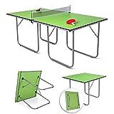 AHHC Klappbar Tischtennisplatte Ping Pong Tisch 181x102.5x76cm