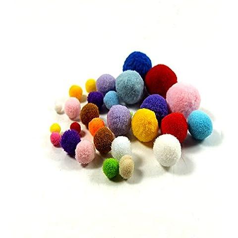 100x bolas de fieltro de lana de Furball pequeño pompón ropa juguete accesorio casera DIY Craft, 10 mm