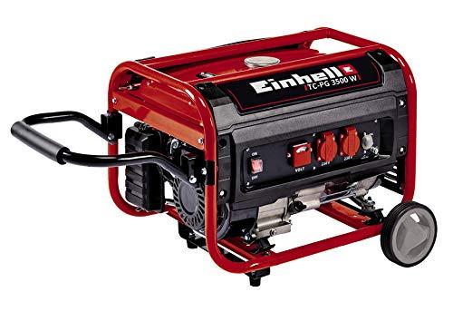 Einhell 4152550 generatore di corrente a benzina, 3500 w, 230 v, rosso, nero