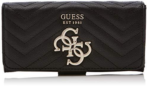 Guess Damen Violet Slg File Clutch Geldbörse, Schwarz (Black) 20x10x2 centimeters