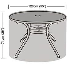 Funda de mesa redonda de 4–6plazas impermeable para jardín de polietileno