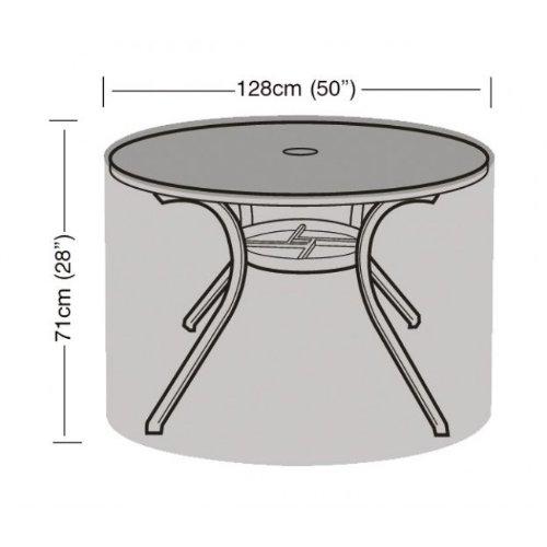 Tisch für 4-6 Personen, Rund, Wasserabweisend, Polyethylen