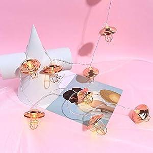 1.5M LED Lichterkette Warmweiß für Zimmer Deko, Dapei 10er LED String Fairy Licht Batteriebetrieben Kupfer Drahtlichterkette für Weihnachten Halloween Hochzeit Party Innen Deko