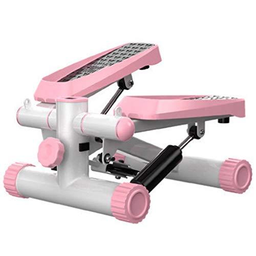 Stepper Brennende Fettpedalmaschine Stummschaltung Für Heimfitnessgeräte Kleine Unisex-Sportmaschine Klettersteige In Situ (Color : Pink, Size : 43 * 30 * 20cm)