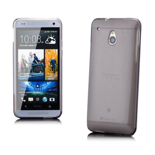 iCues HTC One Mini M4 |  Transparent TPU Case Schwarz | [Display Schutzfolie Inklusive] Transparent Klarsichthülle Durchsichtig Klare Klarsicht Silikon Gel Schutzhülle Hülle Cover Schutz
