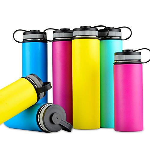 900/1200ml Isolierte Edelstahl-Flasche mit Bonus Deckel, doppelwandig Vakuum versiegelt Fläschchen, Kälte, 24Stunden Hot 12Stunden & #-; breit Mund mit BPA-frei & #-, der am besten Geschenk, rose Bonus-küche