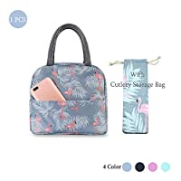 Insulated Lunch Bag Tote Bag for Women Wide Open Insulated Cooler Bag Water-resistant Thermal Leak-Proof Lunch Organizer For Men Girls Children Outdoor Picnic Work