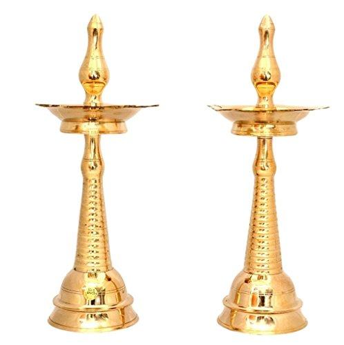 SWS Brass Kerala Deepa Diya Pair 12