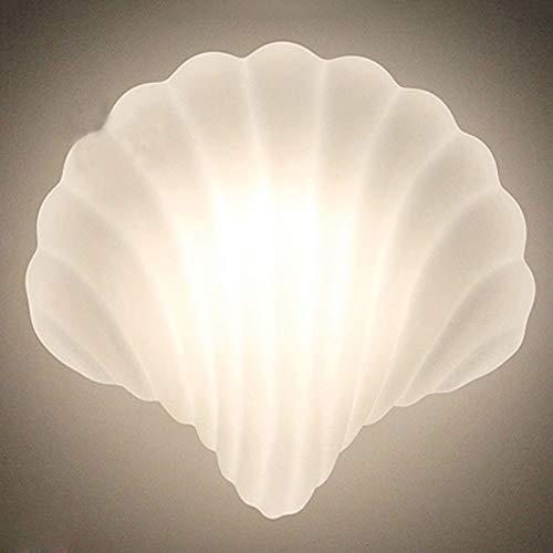 LCTCDY Retro Vintage atemberaubende weiße und Glasdekoration mit kreativen Shell-Design, Beach Sea View Schlafzimmer Dekor (Farbe : Schale-245MM*234MM)