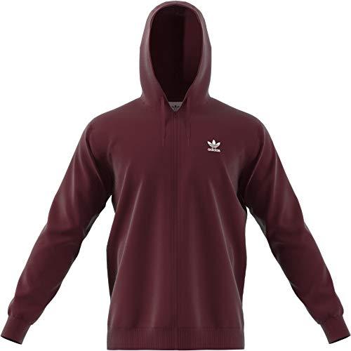 Maroon Kapuze Sweatshirt (adidas TRF FLC Hoodie, Sweatshirt mit Kapuze Herren S Maroon)