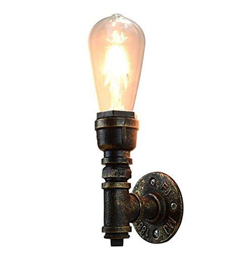 AMZH Lámparas de pared de la pipa de agua Retro europeo y estilo americano pasillo corredor Bedside muebles de casa única lámpara de pared E27 110V 220V Ac tamaño: 85 * 90 * 265 (MM)