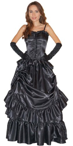 MAYLYNN Edel Vampirin Vampirkostüm Barock mit Handschuhen - schwarz, Gr. L