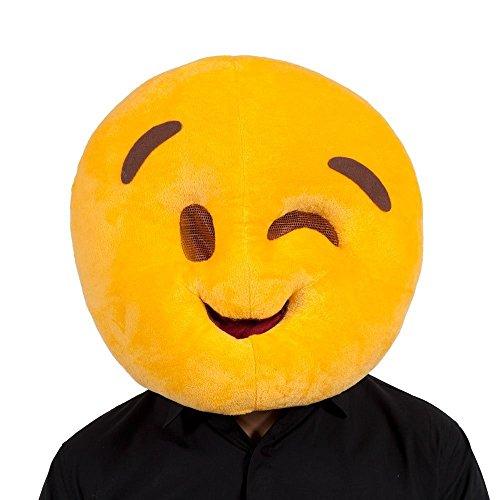 Wink Emoji-Face Maske für Neuheit Funny Phone Masquerade -