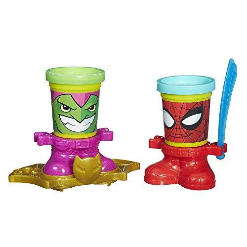 Playdoh Marvel Can-Heads - Spider-Man & Green Goblin (Spiderman Play-doh)