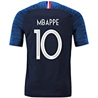 GESUNDHOME Maillot de Foot Homme Mbappé Griezmann France 2018 2 Étoiles T-Shirt et Short -Taille S M L XL