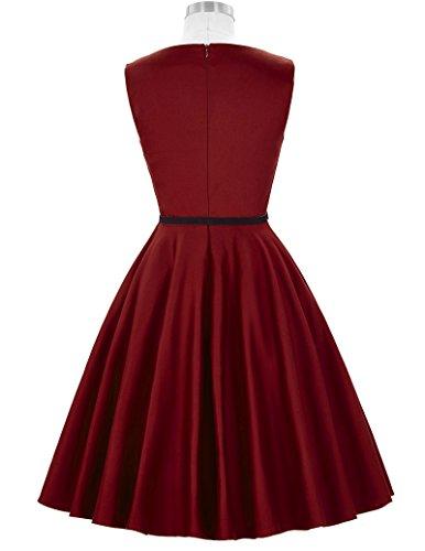 50s Rockabilly Kleid Festliches Kleid Partykleider Cocktailkleider GD6086 New CL6086-49