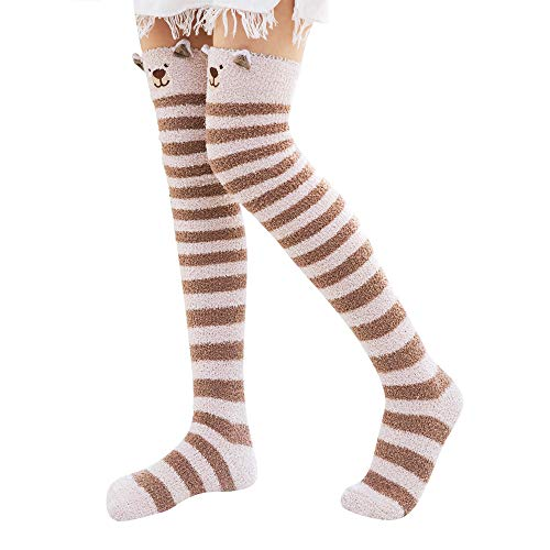 JUTOO Damensocken Dicke Schwere Winter Warme Süße Fuzzy Floor Sock