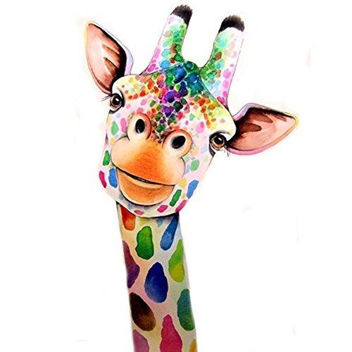 len nach Zahlen Kit DIY Kristall Strass Kreuzstich Stickerei Arts Craft Bild Vorräte für Home Wand-Dekor, Giraffe-30x 39,9cm ()