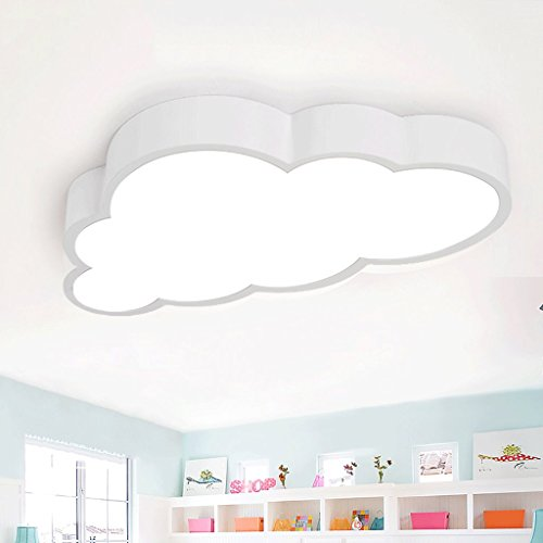 ZHAOJING La lampe de plafond de chambre des enfants a mené les lumières créatives de nuage les garçons et les filles les lumières de chambre à coucher Moderne simple lampes de salon Les beaux nuages assurance de qualité Yeux mous Matériaux de santé environnementale 36W ( Couleur : Tricolor dimming )