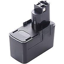 Masione®Batería de herramienta eléctrica para Bosch 12V 2000mAh Ni-CD,Battery for Bosch 2607335185, 2607335243, 2607335244, 2607335250, 2607335376, 2607335378,Número de pieza de la batería PSB 12VSP-2,PSR 120,PSR 12VES-2