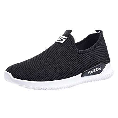 KonJin Women Sneakers Fashion Casual Flats Breathable Stretch Cloth Lightweight Walking Trainers Athletic Running Shoes