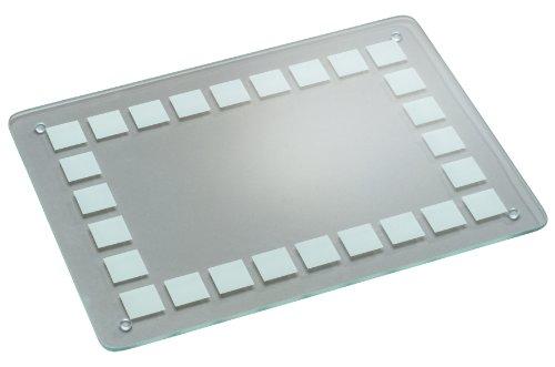Kesper 34400 Glas- Schneideplatte mit satiniertem Aufdruck, gehärtetes Sicherheitsglas, Maße: 40 x 30 x 0.7 cm