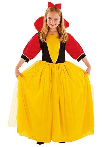 Fiori Paolo - Biancaneve Costume Bambina, Giallo, M (5-7 Anni), 61040.M