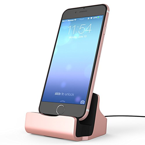 shenzoo® Apple iPhone X 8 7 6 6S 5 SE iPod Dockingstation in roségold (Ipod Touch 5 Case Musik)