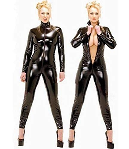 HAIYUANNAN Appeal Standing collar Patent leather Siamese for sale  Delivered anywhere in Ireland