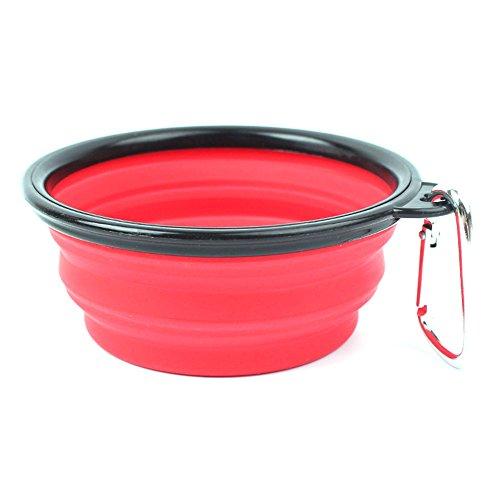 ddellk Candy Farbe Zusammenklappbar Silikon Fressnapf Outdoor Travel Tragbare Puppy Food Container -
