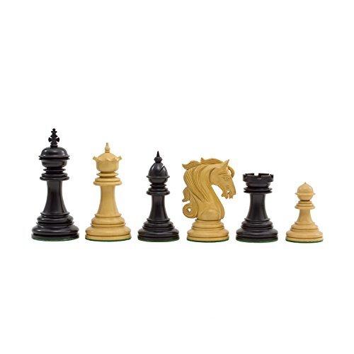 Die Große Kingsgate Ebenholz Luxus Schachfiguren mit 10.8cm King
