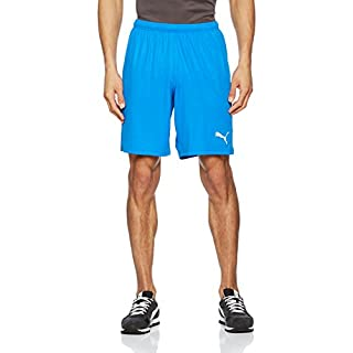 166cb79376c516 Puma Herren Liga Shorts Core with Brief Hose Electric Blue Lemonade-White