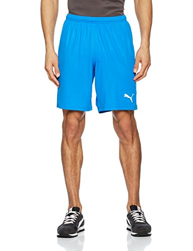 Puma Herren Liga Shorts Core with Brief Hose, Electric Blue Lemonade-White, XL Sport Jogger