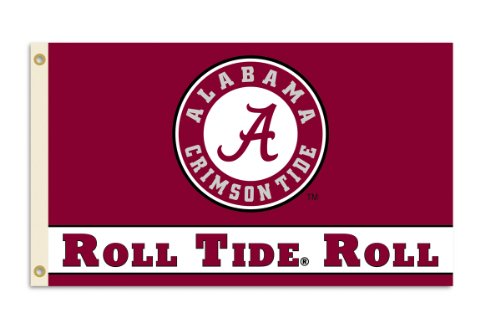 BSI NCAA Alabama Crimson Tide 3-by-5Fuß-Roll Tide Flagge mit Tüllen (Alabama Flag)