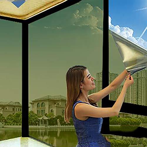 One Way Window Film,anti-uv Wärmeregulierung Reflektierende Privatsphäre Statische Klarsichtfolie Nicht-selbstklebende Spiegelfilm Für Zuhause Und Büro-a 75x100cm(30x39inch)