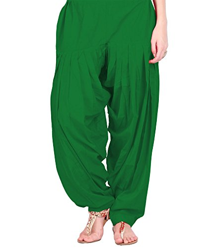 NGT Dark Green Pure Cotton Patialas For Womens