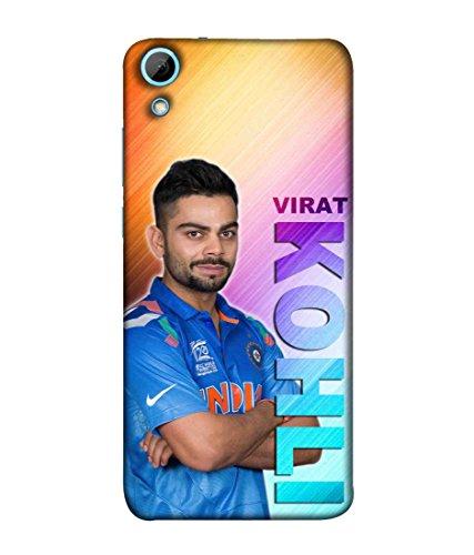 Sibu Print Indian Captain Virat Kohli Kohlism Style Icon Designer Printed Polycarbonate Matte Finish Hard Back Case Cover for HTC Desire 628